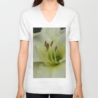 lily V-neck T-shirts featuring Lily by IowaShots