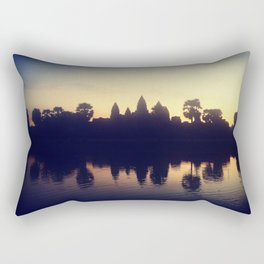 Angkor Dawn: Reflections on a challenge Rectangular Pillow