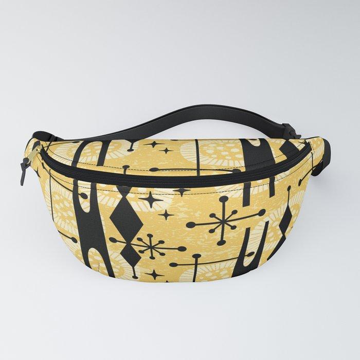 Retro Atomic Mid Century Pattern 771 Yellow Fanny Pack