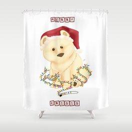 Merry Crisis 2020 : Brown Bear Shower Curtain