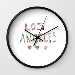 Los Angeles Love Wall Clock