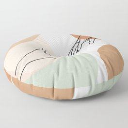 Minimal Line Art Give Me Your Hand  Floor Pillow