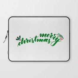 Merry Christmas - green Laptop Sleeve