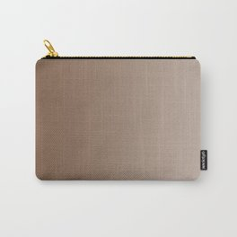 Brown to Pastel Brown Vertical Linear Gradient Carry-All Pouch