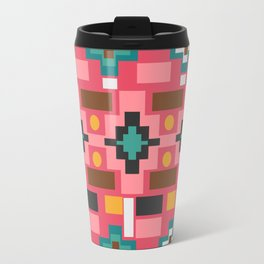 Multicolored joyful shapes Travel Mug