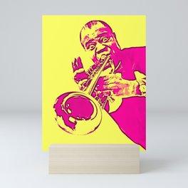 Society6 100 Elements Of Louis - Louie - Daniel Armstrong Satchmo - Satch - Pops - Pop Sketch-Art Mini Art Print