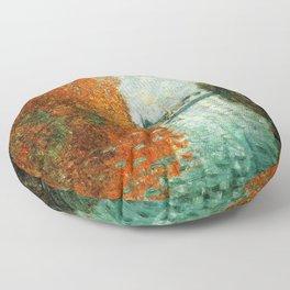 Monet : Autumn Effect at Argenteuil Floor Pillow