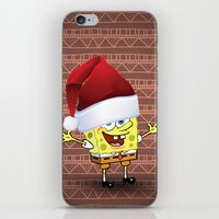 spongebob iPhone & iPod Skins featuring Spongebob Celebration by ShineShop