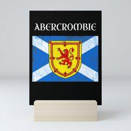 Abercrombie Scottish Clan Name Scotland Flag Mini Art Print