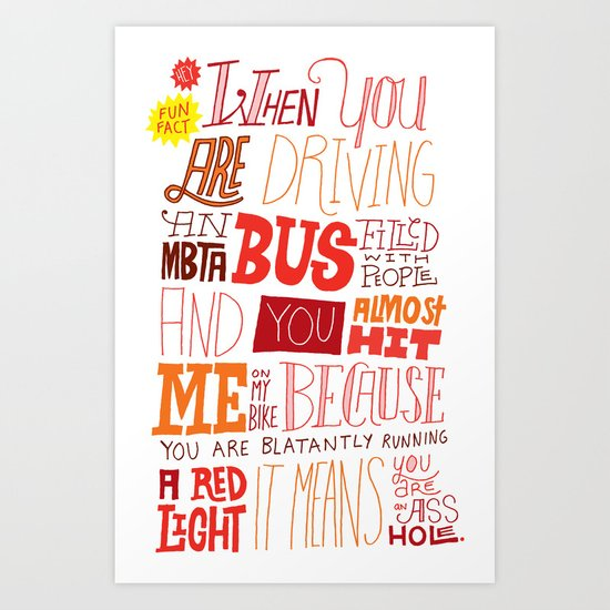 MBTA: Fun Fact! Art Print