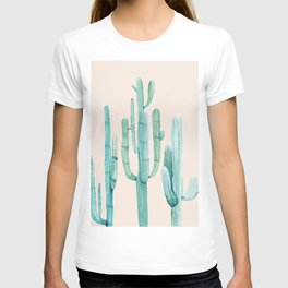 Three Amigos Turquoise + Coral T-shirt