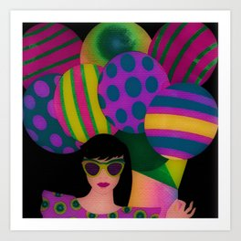 Fun With Coloring Balloons Art Print