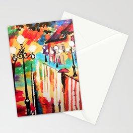 Rainy Night  Stationery Cards