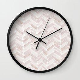 Neutral Blush Chevron Wall Clock