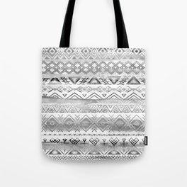 Watercolor tribal bohemian pattern in grayscale colors Tote Bag
