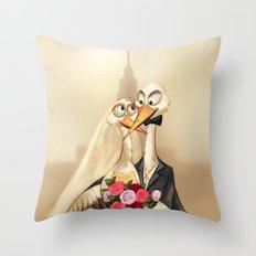 crane wedding Throw Pillow