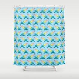 Rainbow hermit crab Shower Curtain