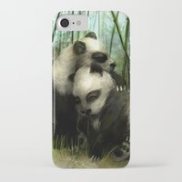 pandas iPhone & iPod Cases featuring Pandas by Gilthonniel's Shop