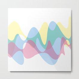 CMYK curves Metal Print