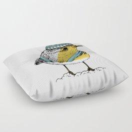 Winter bird Floor Pillow