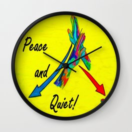 American Sign Language Peace and Quiet Wall Clock