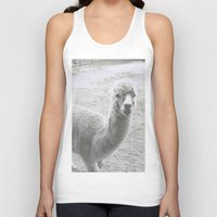 llama Tank Tops featuring Llama by Cat In The Sorting Hat