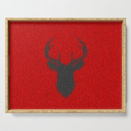 Antiallergenic Hand Knitted Deer Winter Wool Texture - Mix & Match with Simplicty of life Serving Tray