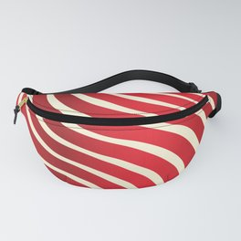 Abstract Waves illusion Pattern - Red Fanny Pack