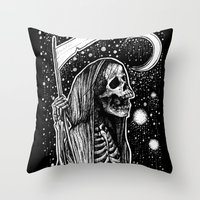 tarot Throw Pillows featuring Death Tarot by Corinne Elyse