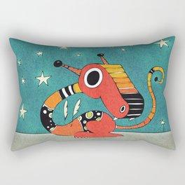 Red and Orange Dragonie Rectangular Pillow