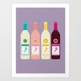 Barefoot Wine Art Print