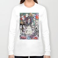 tim burton Long Sleeve T-shirts featuring TIM BURTON TEA PARTY by ●•VINCE•●