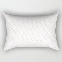 Blushing Bride Stripe Rectangular Pillow