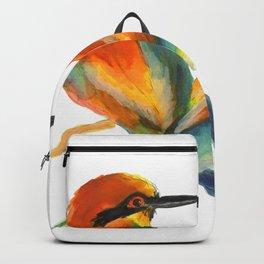 Bee eaters in love - birds watercolours Backpack