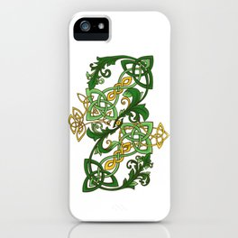 Floral knotwork iPhone Case