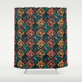 rustic patchwork Shower Curtain