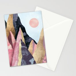 Mauve Peaks Stationery Cards