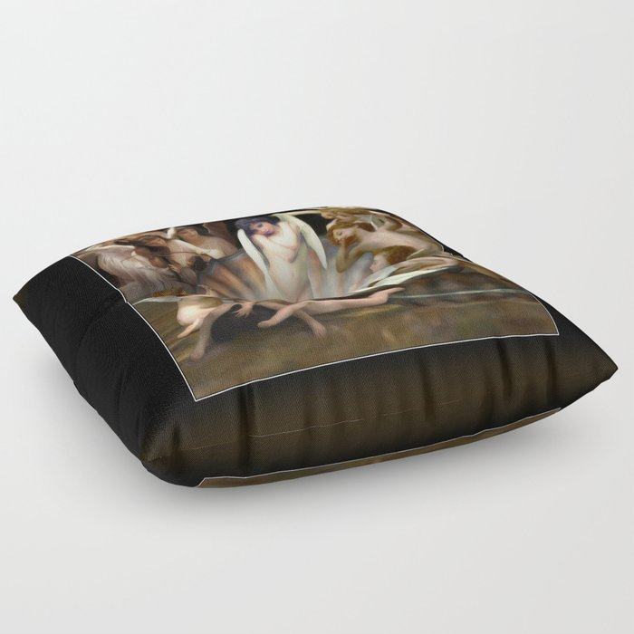 Bouguereau's Angels Surround Cupid Floor Pillow