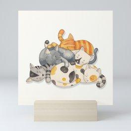 Cat Nap (Siesta Time) Mini Art Print