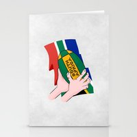 south africa Stationery Cards featuring South Africa Rugby by mailboxdisco