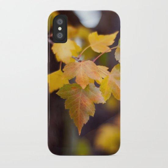 Autumn Yellow iPhone Case