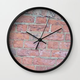 Red Brick Texture Wall Clock