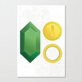 Video Game Money - Zelda, Mario, Sonic Canvas Print