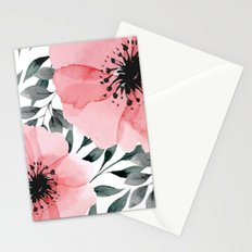 Big Watercolor Flowers Stationery Cards