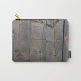 Brown Wood Panels Carry-All Pouch