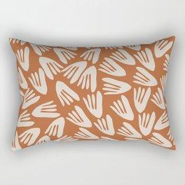 Papier Découpé Modern Abstract Cutout Pattern in Putty and Clay Rectangular Pillow