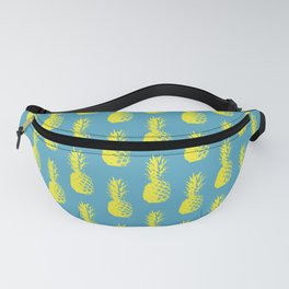 Pineapple Pattern - Light Blue & Yellow #947 Fanny Pack