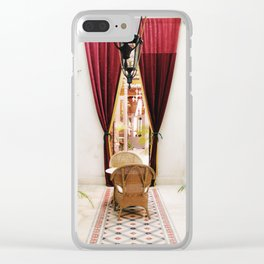 Colonial Style Tea Room in Merida, Mexico Clear iPhone Case