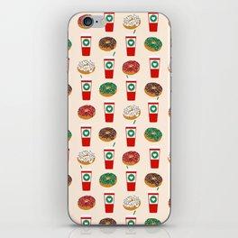 Coffee donuts foodie brunch breakfast desserts coffee lovers gifts iPhone Skin