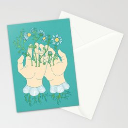 Human Flowering Stationery Cards
